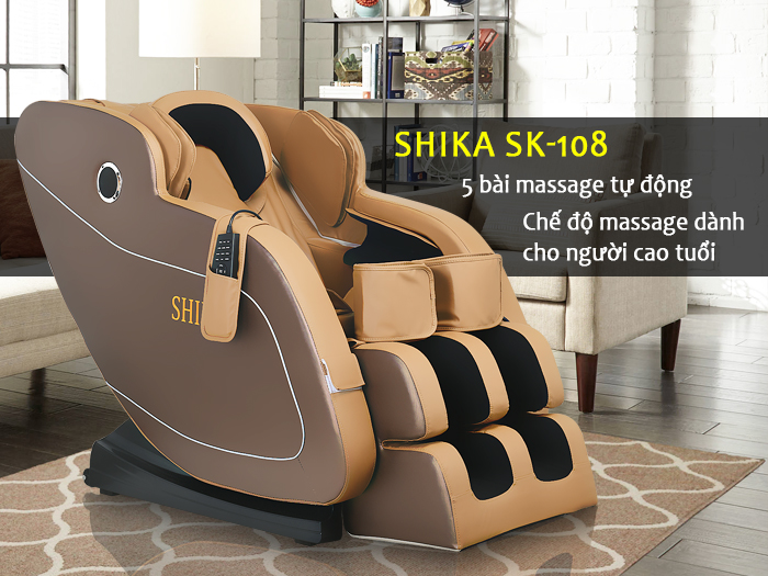 Ghế massage Shika SK-108 mới nhất