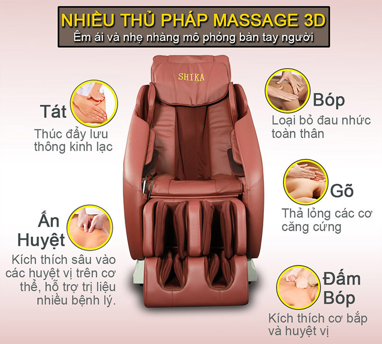 Ghế Massage Cao Cấp 3D Shika SK8916
