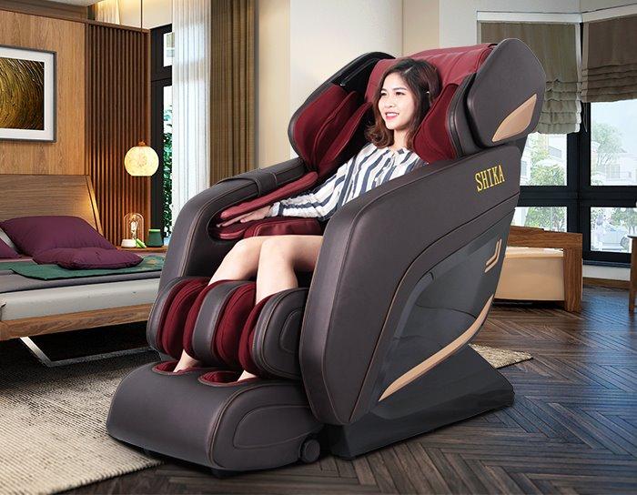 Ghế Massage Toàn thân Shika SK-8918 Đỏ